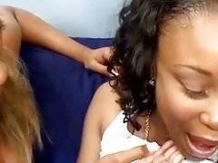 Horny ebony lesbian babes like black pussy holes