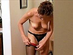 Brunette babe Elexis Monroe gets dressed up while Rachel Steele watches