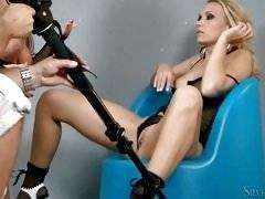 BTS-Silvia and Michelle Fishnet Frolic. Silvia Saint, Michelle D