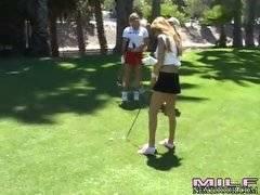 Golfing milfs. Lisa Daniels Angel Joelean