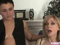 ClubSapphic - Debi Diamond and Nicole Ray Kiss and Make Up
