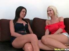 Sammie Rhodes wants to seduce hot Brett Rossi. She invites her for a massage lesson.
