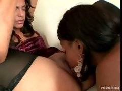 Amateur and sexy bitch likes to lick fresh kitty