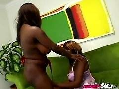 Black lesbian fun with sex toys